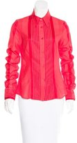 Just Cavalli Striped Button-Up Top
