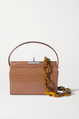 Gu De Gu_de - Croc-effect Leather Shoulder Bag - Brown