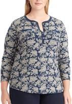 Chaps Plus Size Floral Henley
