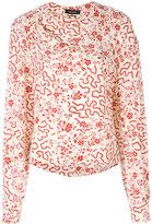 Isabel Marant geometric and floral print blouse - women - Silk/Spandex/Elastane - 36