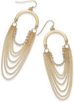 Thalia Sodi Gold-Tone Crystal Multi-Chain Drop Earrings, Only at Macy's