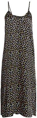 ATM Anthony Thomas Melillo Floral Silk Slip Dress