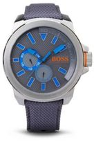 Hugo Boss 1513013 Chronograph Woven Nylon Strap Watch One Size Assorted-Pre-Pack