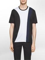 Calvin Klein Platinum Slim Fit Geometric Mesh Inset Tri-Color T-Shirt
