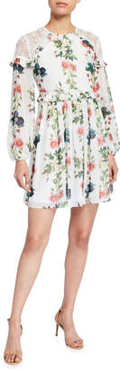 Ted Baker Oracle Floral Tiered Dress