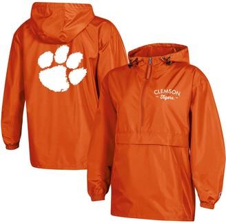 Champion Women's Orange Clemson Tigers Packable Half-Zip Light Rain Jacket