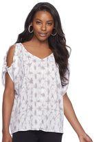 Juicy Couture Women's Print Cold-Shoulder Top