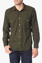 7 For All Mankind Long Sleeve Flap Pocket Shirt In Fatigue