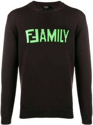 Fendi FFamily intarsia jumper