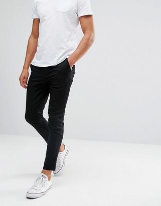 Asos Design DESIGN super skinny cropped chinos in black