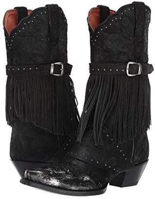 Dan Post Bed of Roses (Black) Cowboy Boots