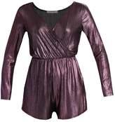 Glamorous Jumpsuit purple metallic