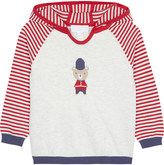The Little White Company Queen's Guard bear cotton hoody 0-24 months