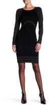 Max Studio Long Sleeve Bodycon Sweater Dress