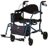 Medline Adult Combination Transport Chair and Rollator