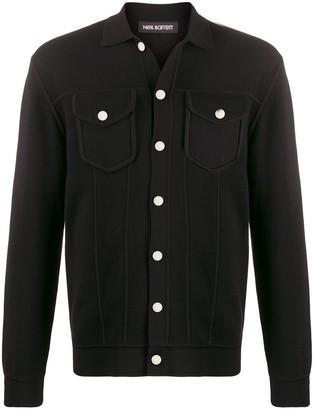 Neil Barrett Jacket-Style Long Sleeve Cardigan