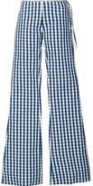 Marques Almeida Marques'almeida checked flared trousers