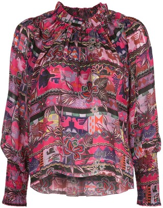 CHUFY Cusco floral patterned shirt