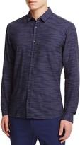 HUGO Broken Stripe Slim Fit Button Down Shirt