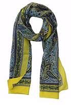 Ayurvastram Paisley Silk Scarf: Turquoise