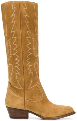 Buttero Embroidered Knee-Length Boots