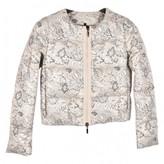 Moncler Print Silver Polyester Coats