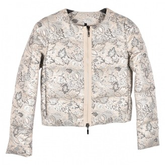 Moncler Print Silver Coat for Women