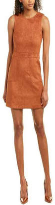 Bishop + Young Gemma Faux Suede Sleeveless Sheath Dress