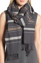 Eileen Fisher Women's Stripe Organic Cotton & Wool Scarf