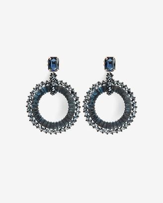 Express Beaded Wrap Resin Circle Drop Earrings