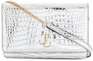 Jimmy Choo Palace metallic crossbody bag
