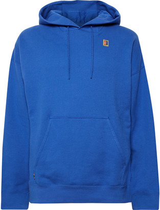 Nike Tennis - Nikecourt Logo-appliqued Loopback Cotton-jersey Hoodie - Blue