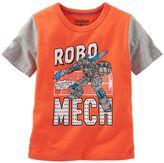 Osh Kosh Toddler Boy Short Sleeve Comic Book Graphic Tee