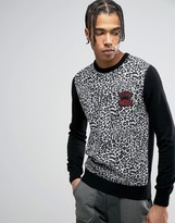 Love Moschino Leopard Print Sweater