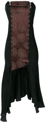 Romeo Gigli Pre Owned strapless asymmetric dress