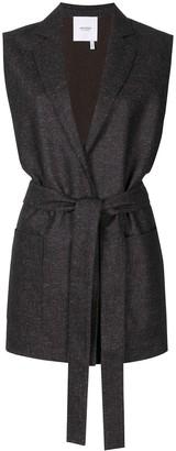 Agnona Sleeveless Flannel Knit Blazer