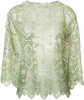 Ermanno Scervino embroidered crochet blouse