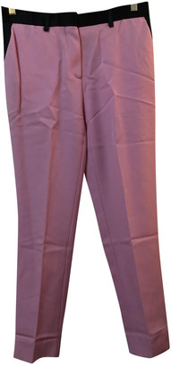 Celine Pink Wool Trousers