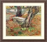 Amanti Art Framed Art Print 'The Bench at Saint-Remy, 1889' by Vincent van Gogh