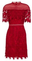 Dorothy Perkins Womens Chi Chi London Red Crochet Bodycon Dress, Red