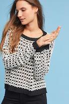Moon River Textured Drop-Shoulder Sweater