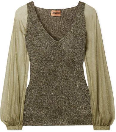 Missoni Metallic Knitted Sweater - Gold