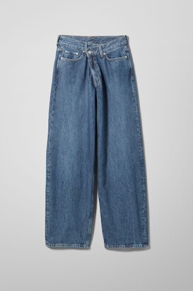 Weekday Rail Laver Mid Loose Straight Jeans - Blue