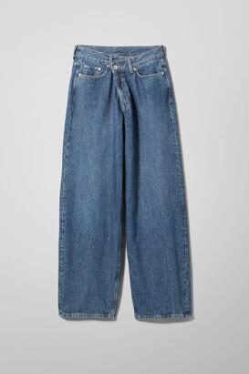 Weekday Rail Mid Straight Jeans - Blue