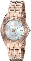 Citizen Women's 'Signature' Quartz Stainless Steel Dress Watch, Color:Rose Gold-Toned (Model: EM0353-50D)