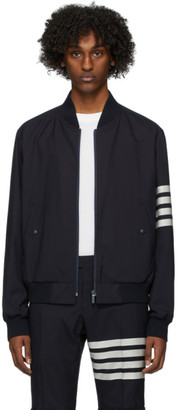 Thom Browne Navy Engineered Blouson Bomber Jacket