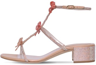 Rene Caovilla 40mm Satin & Crystal Sandals