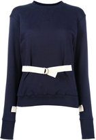 J.W.Anderson belted sweatshirt - women - Cotton - M