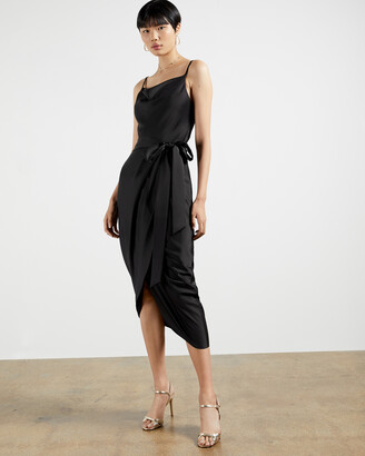 Ted Baker TILLIEY Cowl neck faux wrap dress
