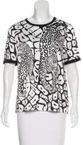 Yigal Azrouel Printed Crew Neck T-Shirt w/ Tags